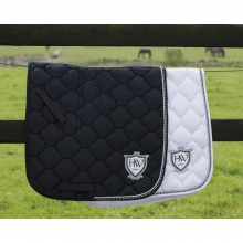 Rambo Diamonte Dressage Saddle Pad Black w/Diamonte or White w/Diamonte