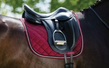 Rambo NonSlip Dressage Saddle Pad Pomegranate