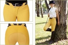 Peter Williams Ladies Show Breeches Old Gold